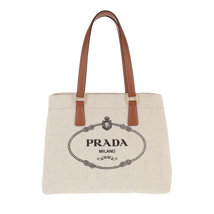 Handtasche, Prada, Logo Tote Bag Natural Cognac