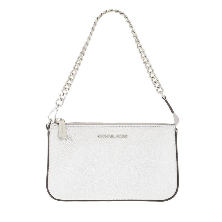 Handtasche, MICHAEL Michael Kors, Jet Set MD Chain Pouchette Silver Silver