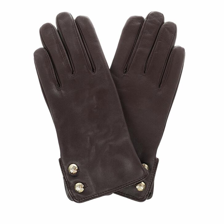 gloves, Lauren Ralph Lauren, Glove Leather Country Brown