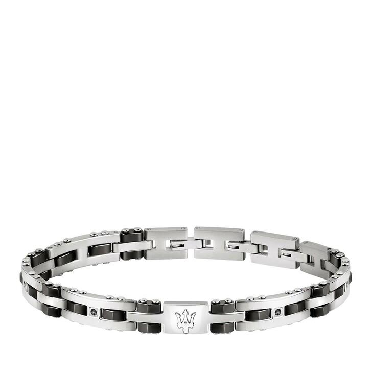 Armreif, Maserati, Bracelet Ceramic & blk Stone 210mm Silver