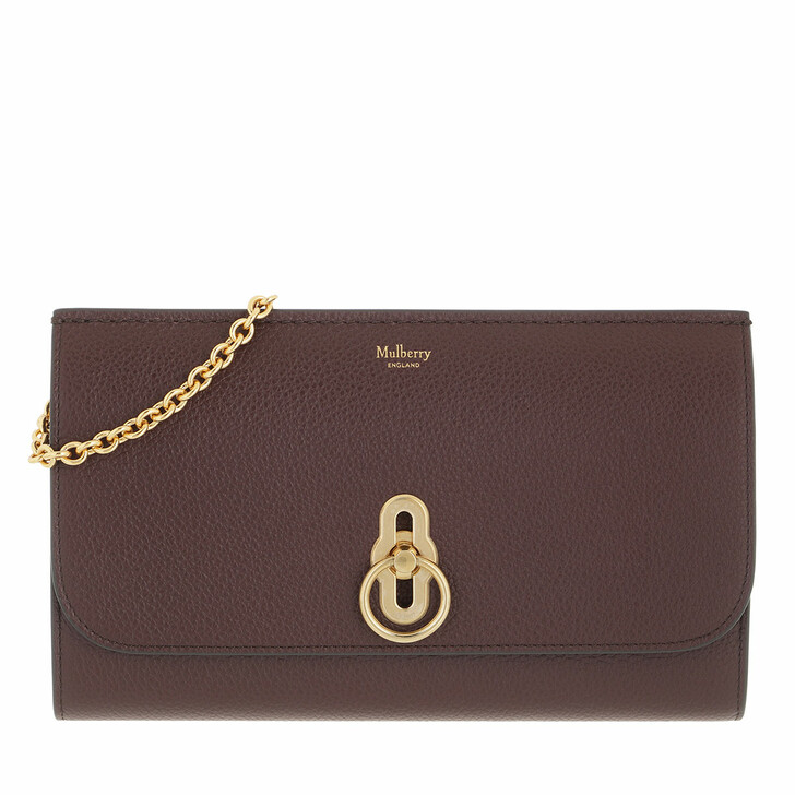 bags, Mulberry, Amberley Clutch Leather Oxblood