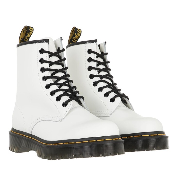 shoes, Dr. Martens, 1460 Bex Smooth White Smooth
