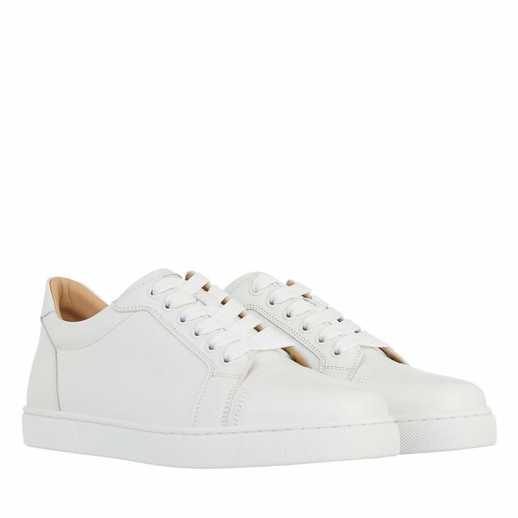shoes, Christian Louboutin, Vieira Sneakers Leather White