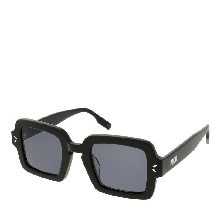 sunglasses, McQ, MQ0326S-001 48 Sunglass Unisex Acetate Black-Black-Smoke