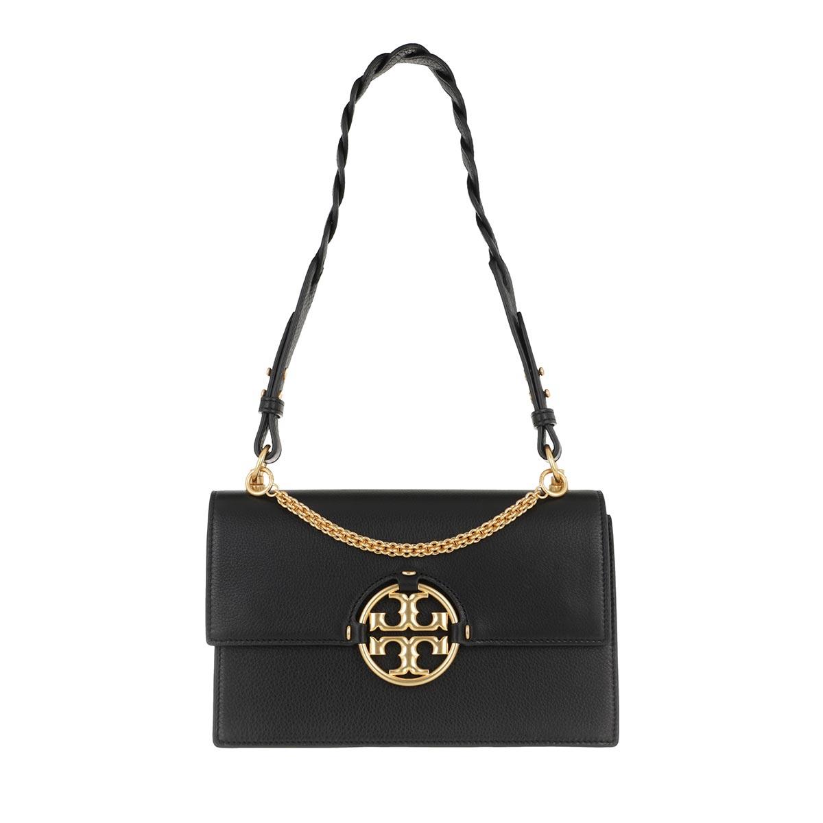Handtasche, Tory Burch, Miller Shoulder Bag Black