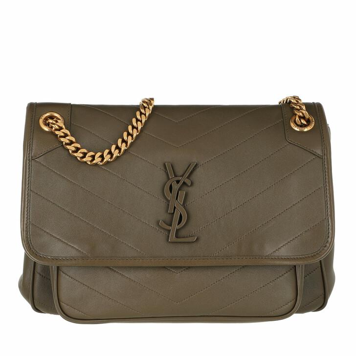 Handtasche, Saint Laurent, Niki Medium Shoulder Bag Leather Seaweed
