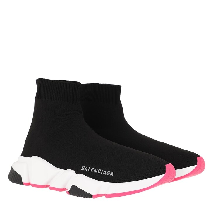 Schuh, Balenciaga, Speed Knit Sneaker Black/White/Pink