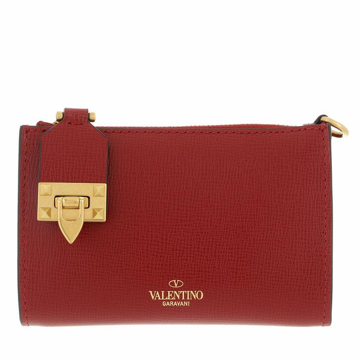 wallets, Valentino Garavani, Rockstud Card Wallet Rouge Pur