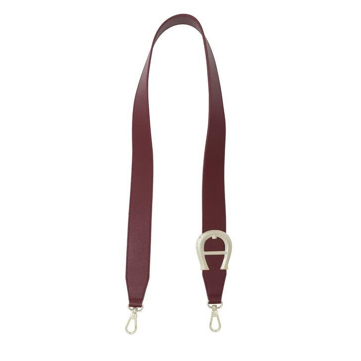 straps, AIGNER, Bag Straps 4cm Burgundy