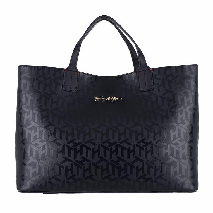 Handtasche, Tommy Hilfiger, Iconic Tommy Satchel Bag Desert Sky