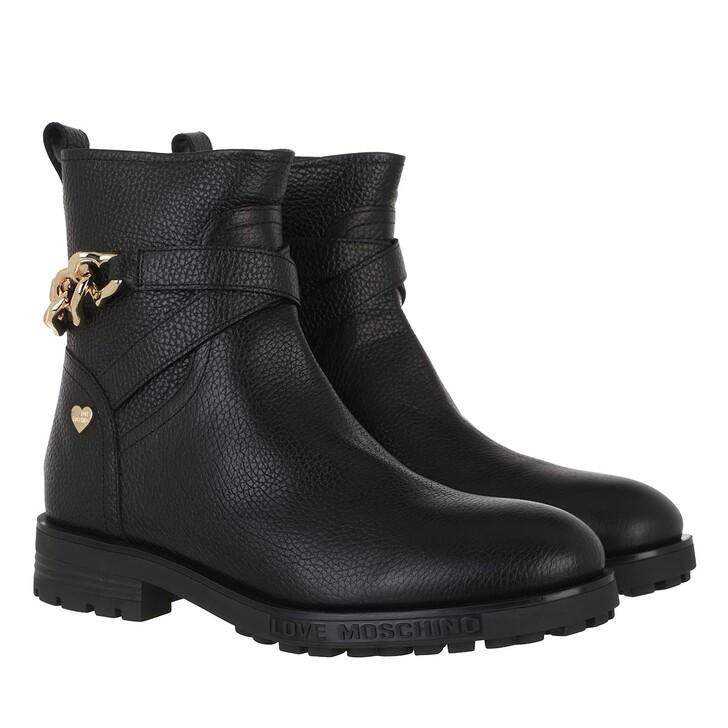 shoes, Love Moschino, Sca Nod Gommac40 Vit Bottalato  Nero