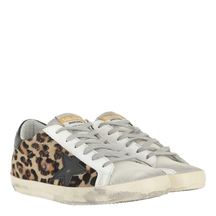 shoes, Golden Goose, Superstar Sneakers Leopard/Silver