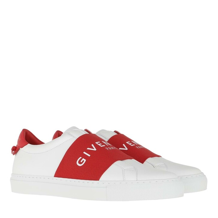shoes, Givenchy, Paris Webbing Sneaker Leather Red/White