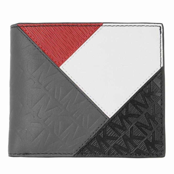 wallets, MICHAEL Michael Kors, Billfold Black/Red