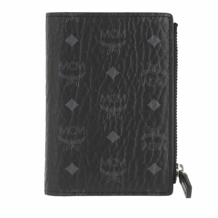 wallets, MCM, Visetos Original M-F19 Slim Wallet W Snap Mini  Black