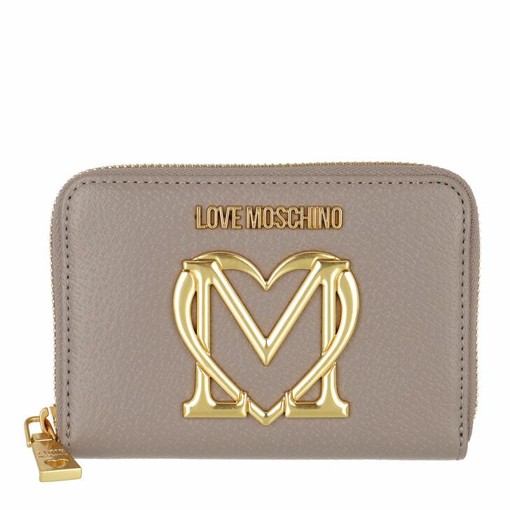 wallets, Love Moschino, Portafogli Pu  Grigio