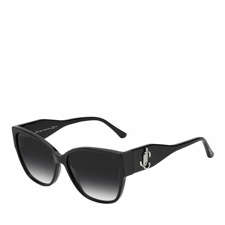 sunglasses, Jimmy Choo, SHAY/S Glitter Black