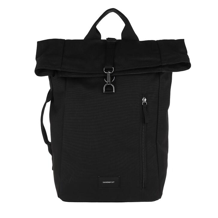 Reisetasche, Sandqvist, Dante Metal Hook Backpack Webbing  Black