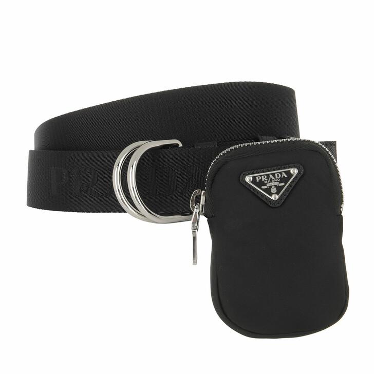 belts, Prada, Belt With Nylon Bag Black