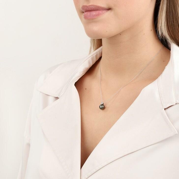 Kette, Gellner, Necklace Brilliant Cultured Tahiti Pearls Gold