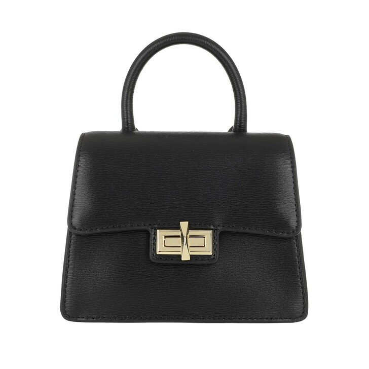 Handtasche, DKNY, Jojo Mini Satchel Bag Black/Gold