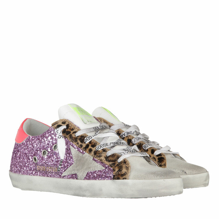 shoes, Golden Goose, Superstar Sneakers Glitter Pink/Ice/Fuxia Fluo