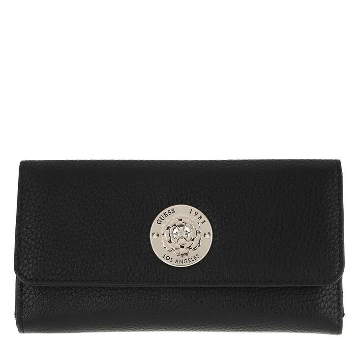Geldbörse, Guess, Belle Isle Wallet Pocket Trifold Black