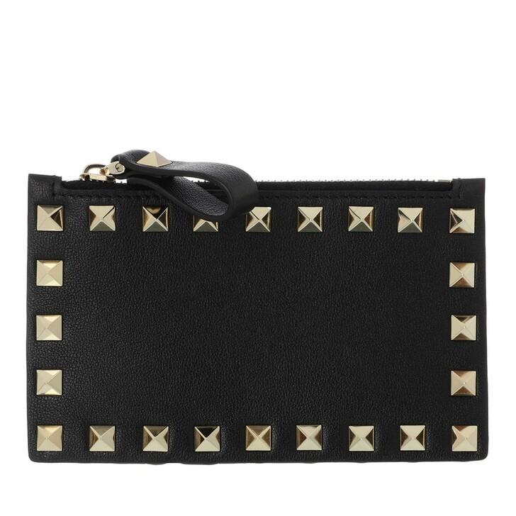 wallets, Valentino Garavani, Rockstud Coin Wallet Black