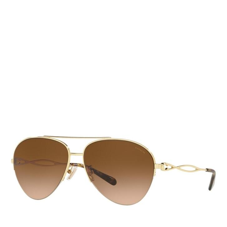Sonnenbrille, Coach, 0HC7124 Shiny Gold