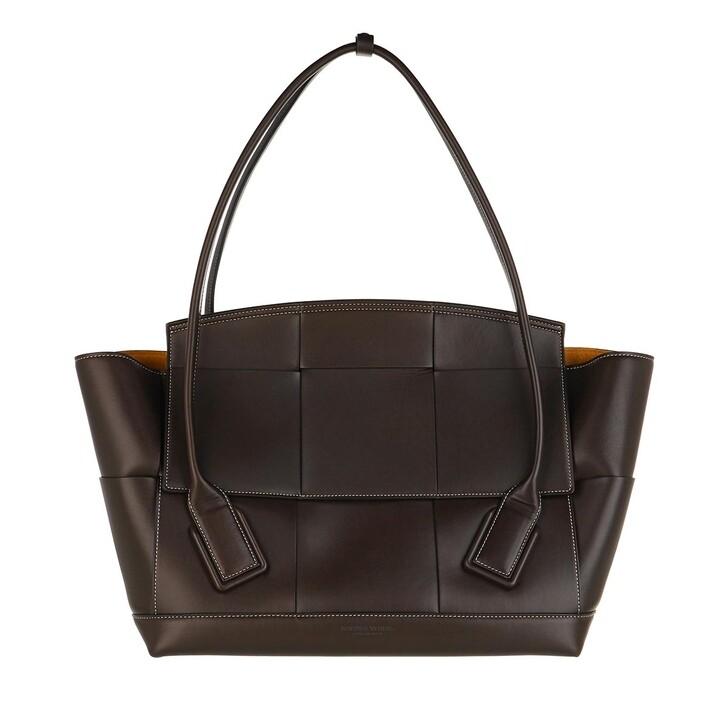 Handtasche, Bottega Veneta, Maxi Bag Woven Leather Brown