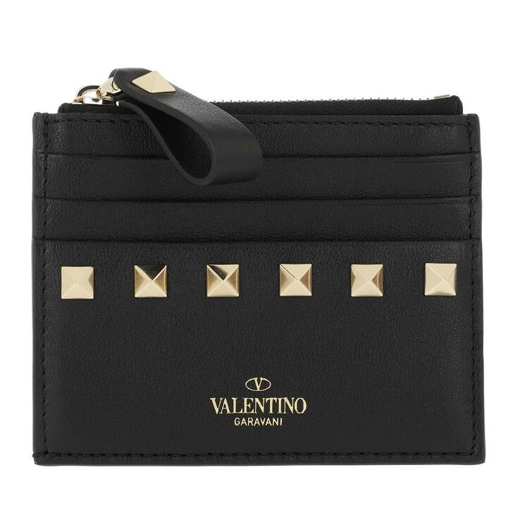 Geldbörse, Valentino Garavani, VLTN Small Wallet Leather Black