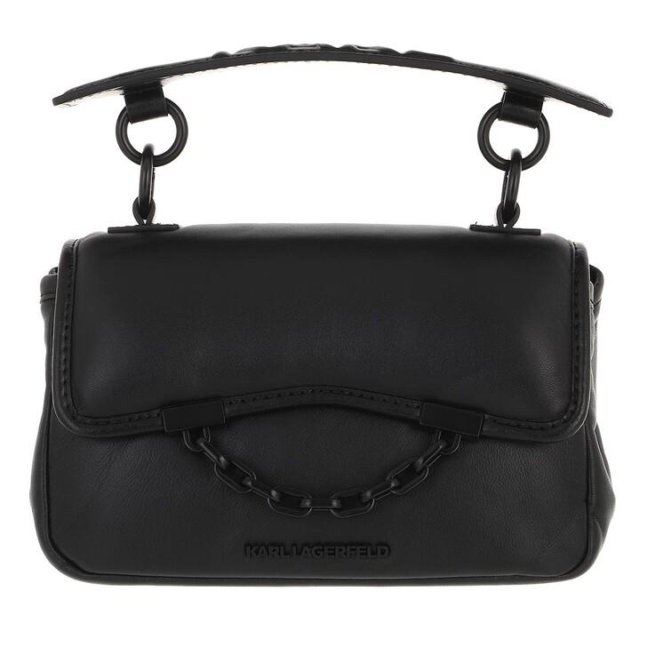 bags, Karl Lagerfeld, Karl Seven Soft Mini Shoulderbag  Black