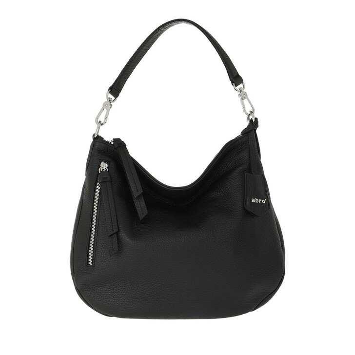 Handtasche, Abro, Hobo Bag Juna Small Black Nickel