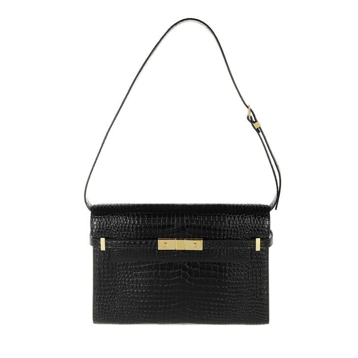 bags, Saint Laurent, Manhatten Crossbody Bag Black