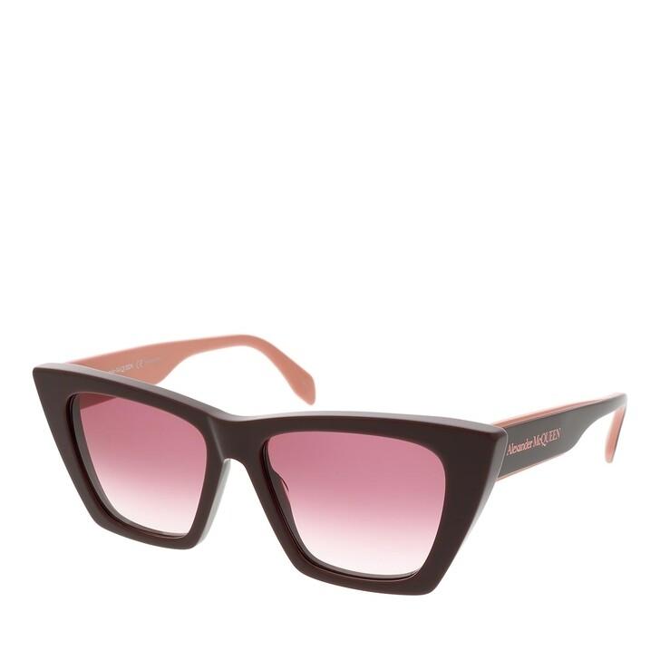 sunglasses, Alexander McQueen, AM0299S-004 54 Sunglass WOMAN ACETATE BURGUNDY