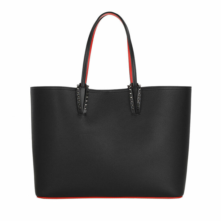 bags, Christian Louboutin, Shopping Bag Leather Black/Red