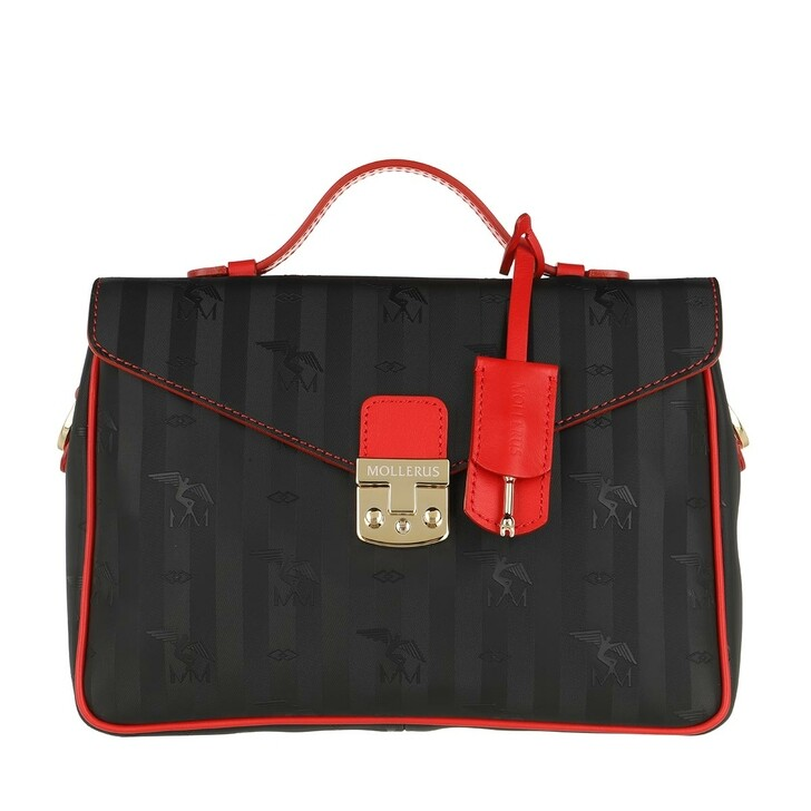 Handtasche, Maison Mollerus, Marly Crossbody Bag Black Gold