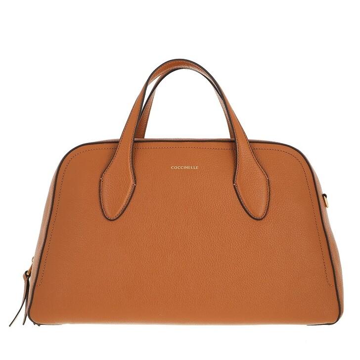 bags, Coccinelle, Gitane Handbag Grained Leather  Caramel