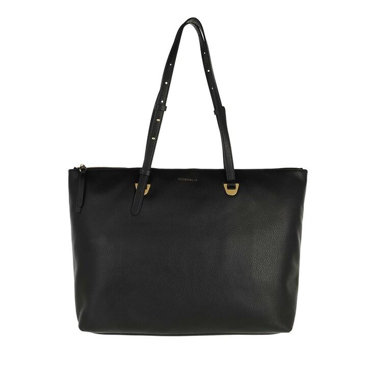 Handtasche, Coccinelle, Shopping Bag Grained Leather Noir