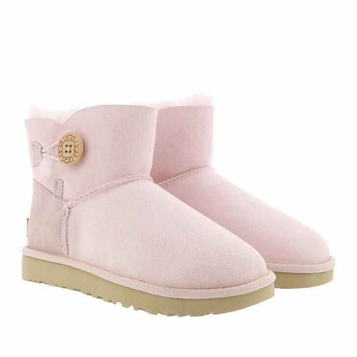 shoes, UGG, W Mini Bailey Button II Seashell Pink