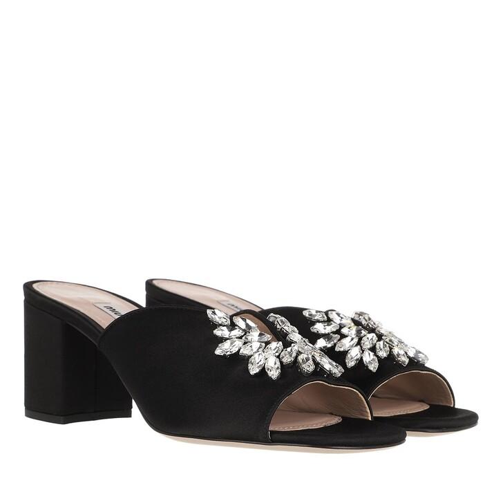Schuh, Miu Miu, Crystal Embellished Mules Black
