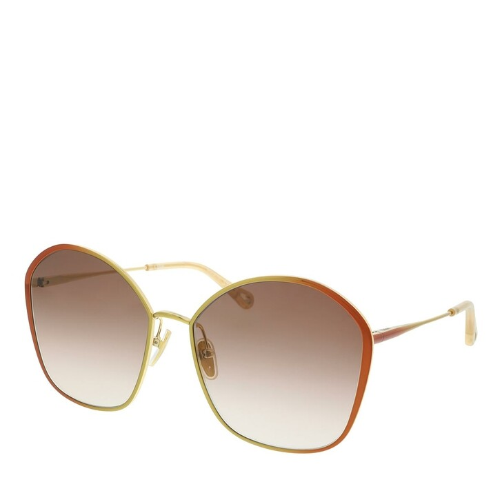 Sonnenbrille, Chloé, Sunglass WOMAN METAL BROWN-BROWN-BROWN