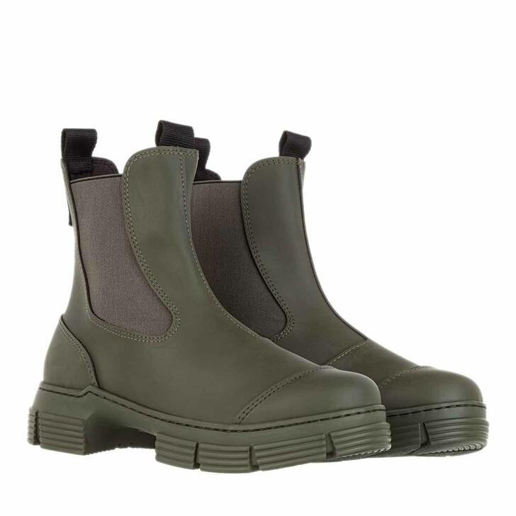Schuh, GANNI, Recycled Rubber City Boots Kalamata