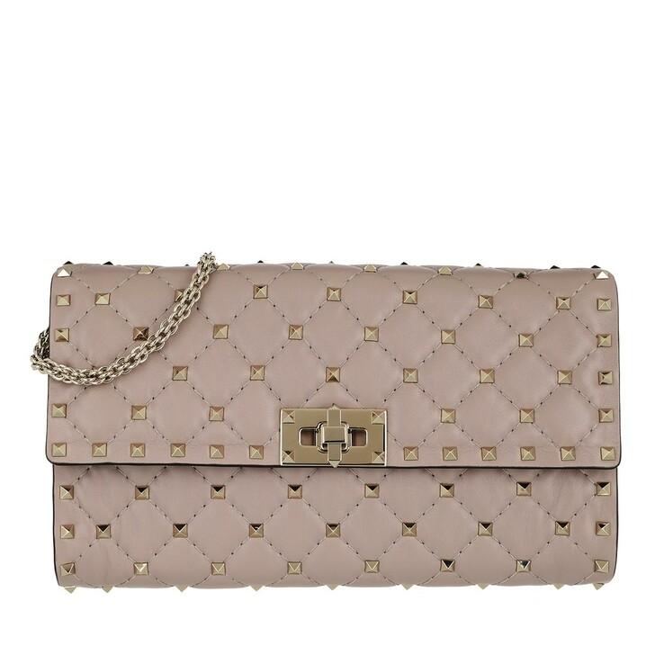 bags, Valentino Garavani, Rockstud Spike Crossbody Bag Poudre