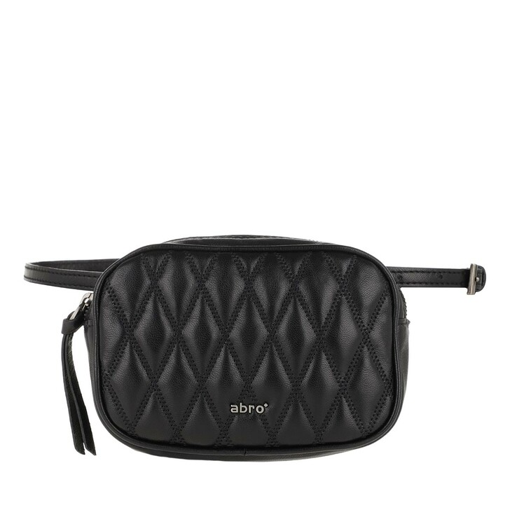 Handtasche, Abro, Romby Belt Bag Black/Nickel