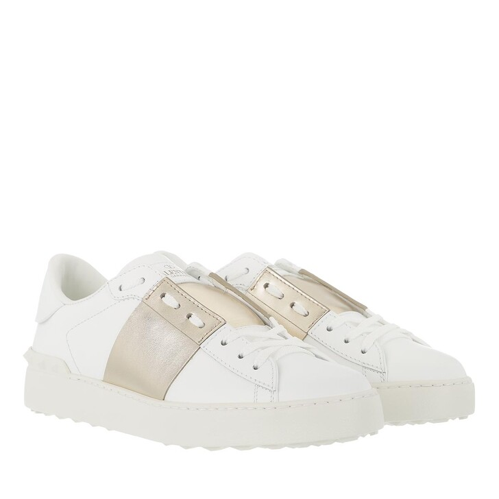 Schuh, Valentino Garavani, Rockstud Sneaker White/Gold