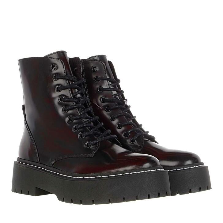 Schuh, Steve Madden, Skylar Ankle Boot Black Burgundy