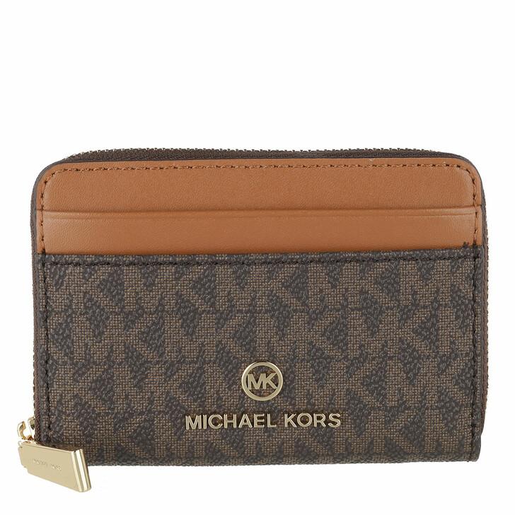 wallets, MICHAEL Michael Kors, Small Za Coin Card  Brn/Acorn