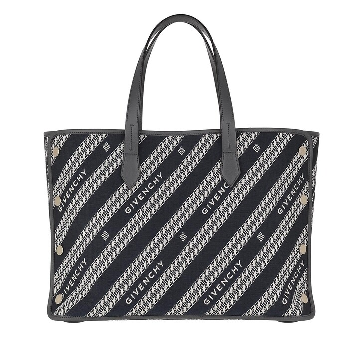Handtasche, Givenchy, Bond Shopper Medium Jacquard Oil Blue
