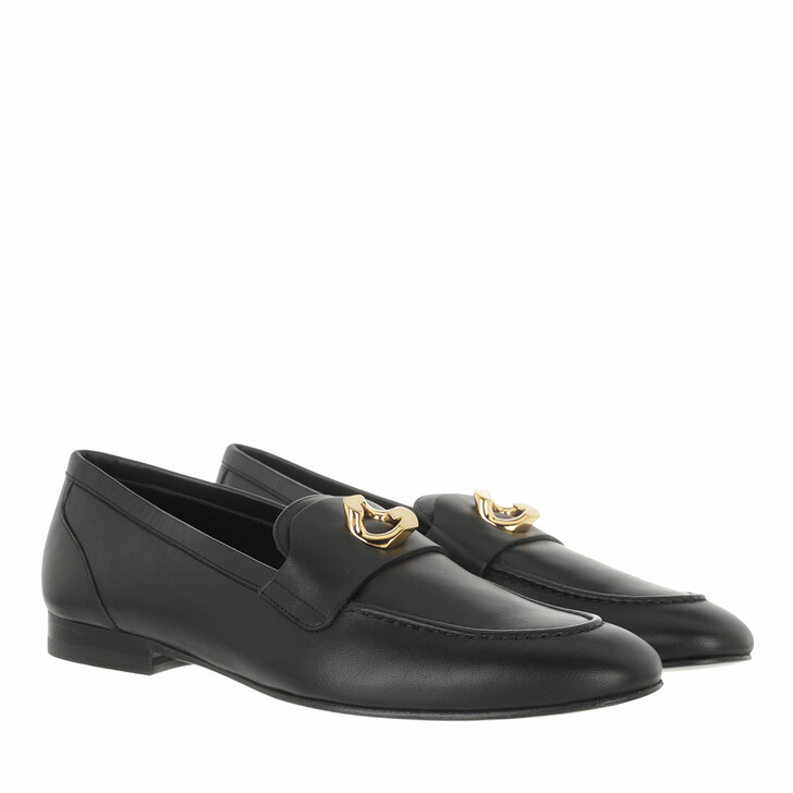 shoes, Givenchy, G Chain Detail Loafers Lambskin Black
